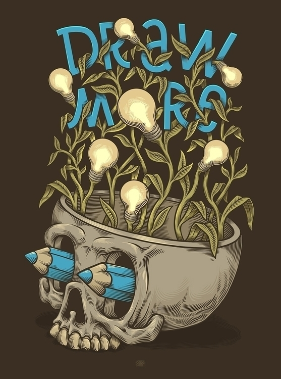 Draw - #illustration, #Skull - oleggert | ello