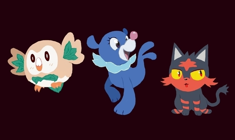 Alola Starters - pokemon, pokemonsunandmoon - rabbott-8438 | ello