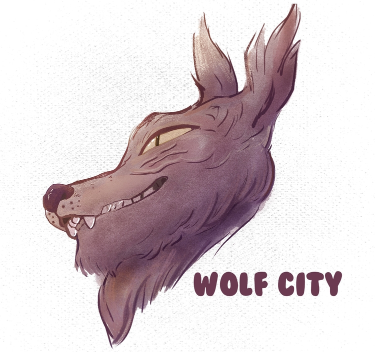 Wolf City - wolf, city, digicember - waymonds | ello
