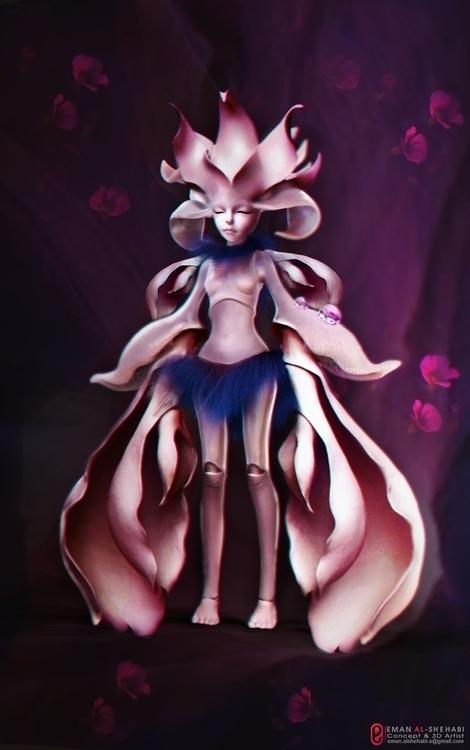 flower girl - characterdesign, conceptart - emanalshehabi | ello
