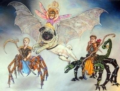 portrait - fantasy, fantasyart, animals - maryann-6495 | ello