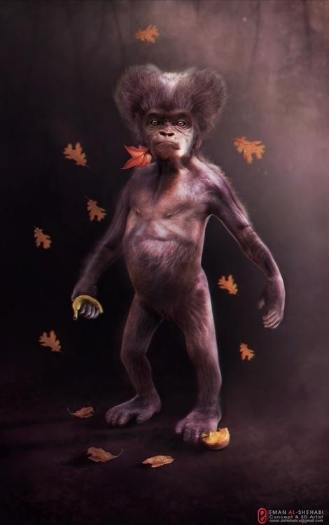 Billa baby Gorilla - conceptart - emanalshehabi | ello