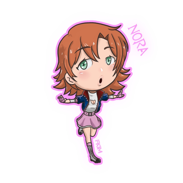 Chibi Nora - illustration, painting - fkim90 | ello