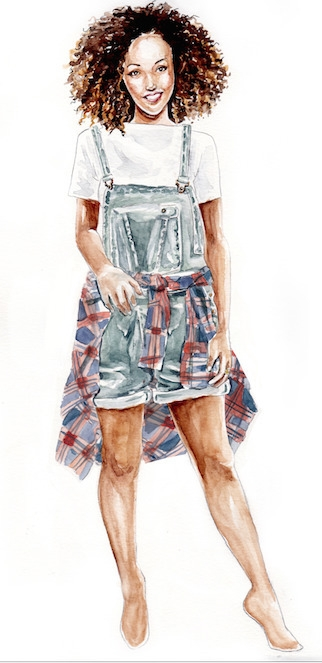 Weekend - fashionillustration, watercolor - cpicheco | ello