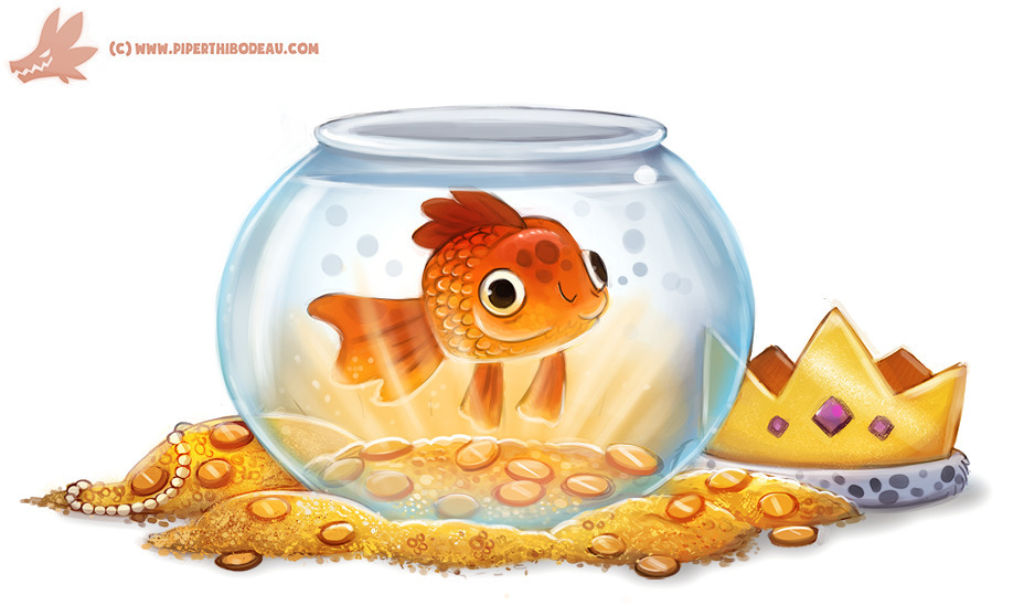 Daily Paint Goldfish - 1138. - piperthibodeau | ello