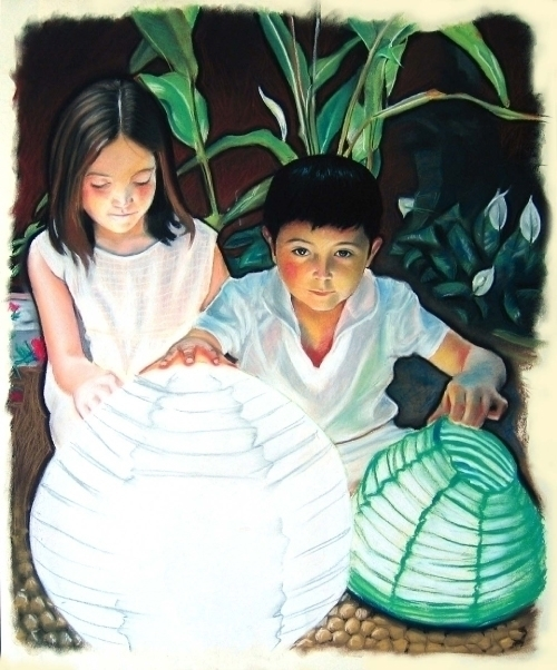 Kids - pastels,portrait,children - gretelvinas | ello