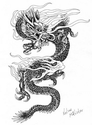 dragon tatoo art - penink - maryann-6495 | ello
