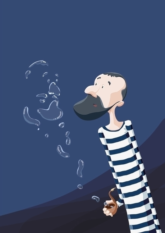 Hipster bubbles - bubbles,illustration,hipster,blue - rose-1168 | ello
