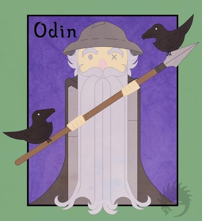 Odin Wednesday - illustration, characterdesign - reach-5958 | ello
