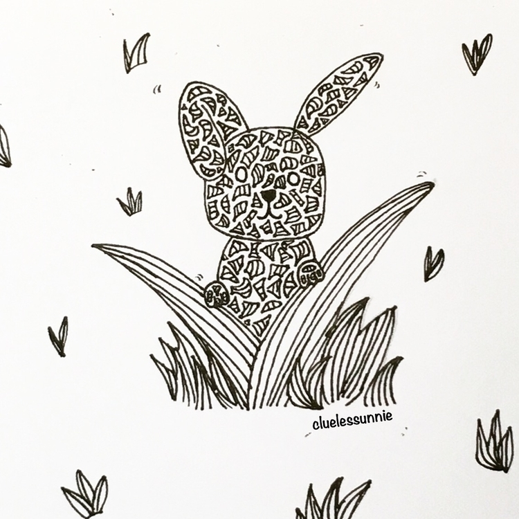 Bunny - illustration, drawing, characterdesign - hanvone | ello