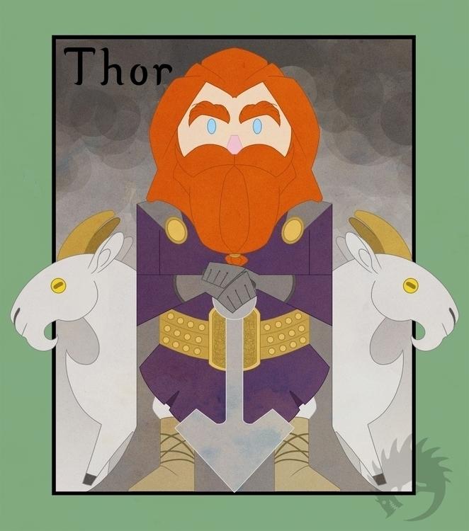 Thor Thursday - illustration, pagan - reach-5958 | ello