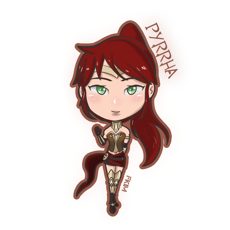 Chibi Pyrrha - illustration#digitalart#design#characterdesign#photoshop#painting#davisvrworks#drawing#conceptart - fkim90 | ello