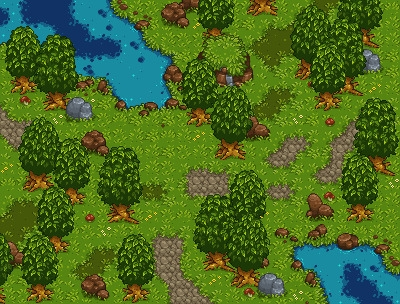 Peaceful Forest - pixelart, tiles - riestagema | ello