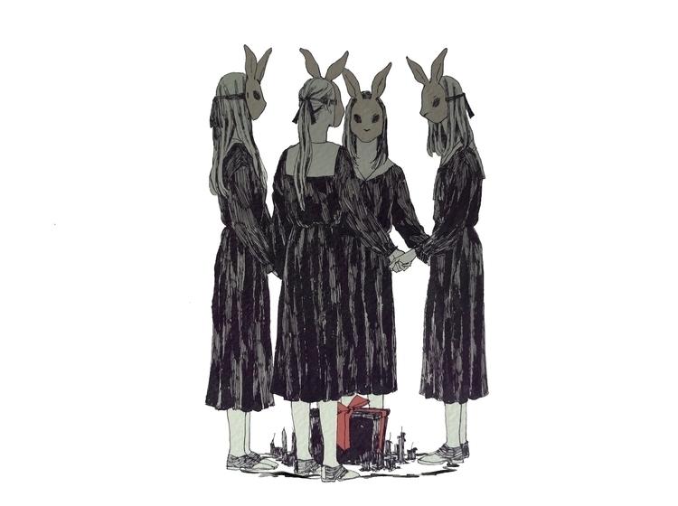 creepy, pen, illustration - mioim | ello