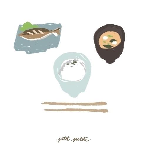 Shio sabayaki set - illustration - petitpetite   ello