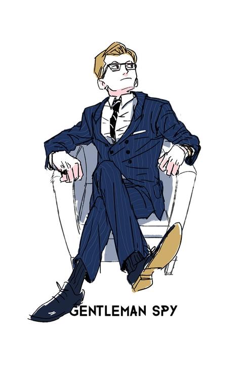 gentleman spy - kingsman - trickywagon | ello
