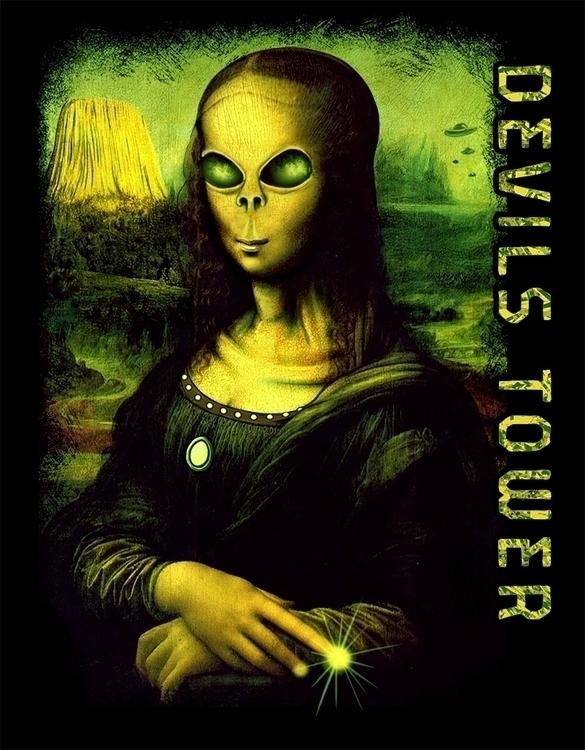 monalisa, alien, shirt, devilstower - chrissmith-1819 | ello