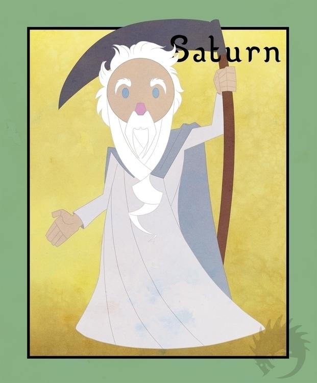 Saturn Saturday - illustration, characterdesign - reach-5958 | ello