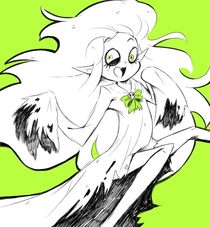 ghost character drew friend - halloween - princessmisery | ello
