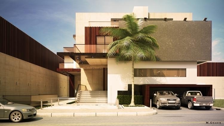 Modern Villa, Daylight Visualis - mgharib | ello