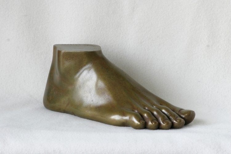 Foot, bronze, height 9 cm, leng - marina-7013 | ello