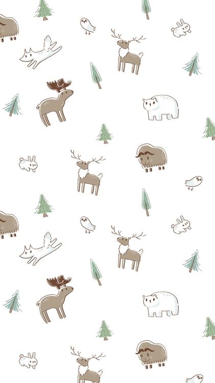 Arctic forest friends - Ip6 bac - petitpetite | ello