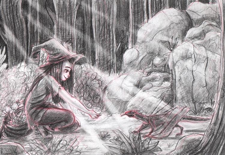 enchanted forest - illustration - susandrawsthings | ello