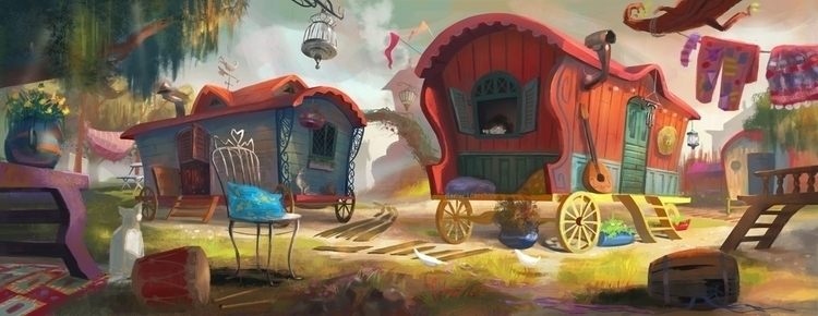 illustration, camping, environment - anna_warzecha | ello