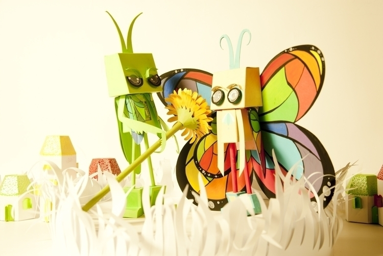 Evenwhen butterfly - papertoy, insect - judynguyen-5846 | ello