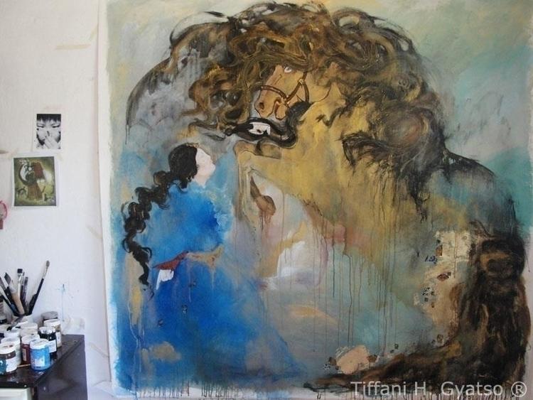 Taming tamed Horse - painting, horse - tiffanigyatso | ello