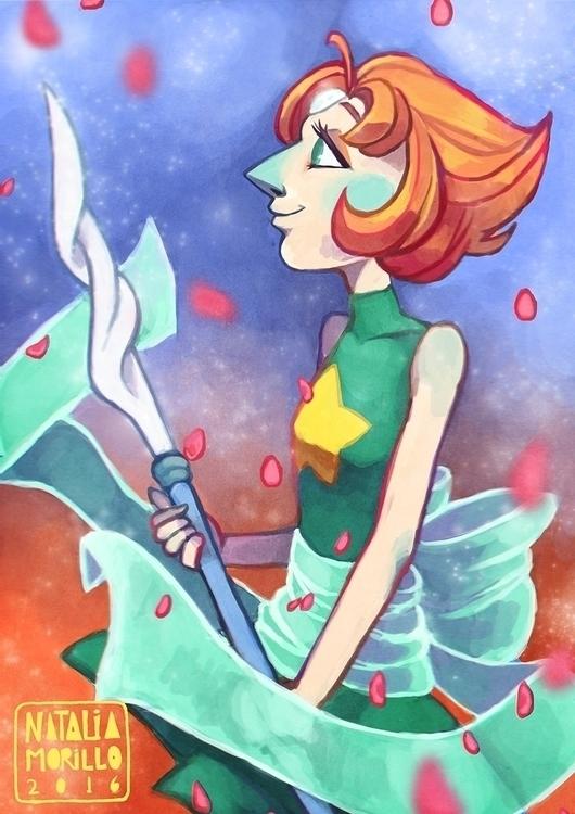 Pearl - illustration, drawing, digitalart - natarya | ello