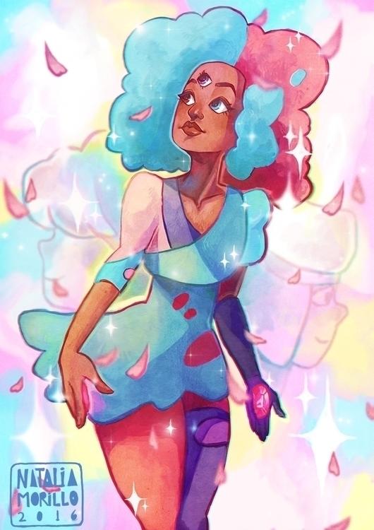 Cotton Candy Garnet - illustration - natarya | ello