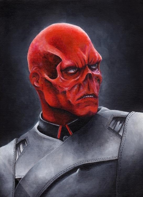 acrylic painting redskull - paint - giulianobuffi | ello