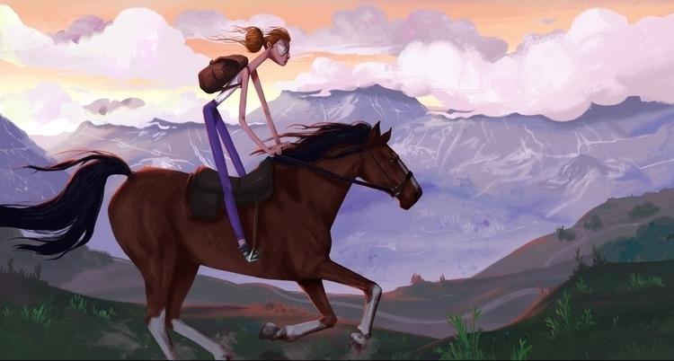 horse, conceptart, illustration - tristan-2688 | ello