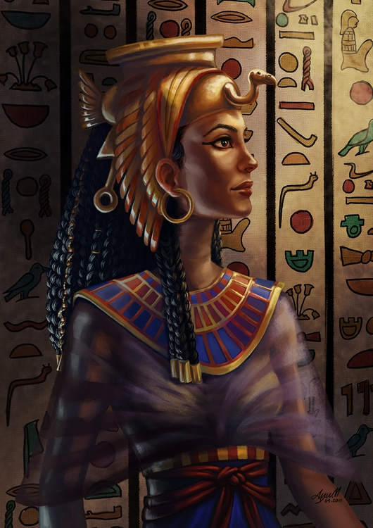 Egyptian Women - illustration, characterdesign - ayu-3119 | ello