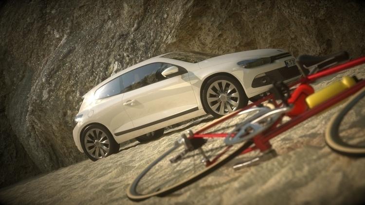 car beach - 3dart, 3dsmax, octane - hereiscris | ello