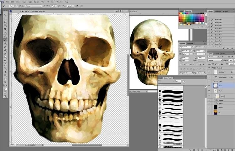 Paintin' Skull, na, na ,na, na - jasonmartin-1263 | ello