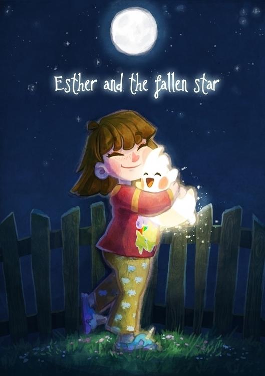Esther fallen star - gameart, gamedev - natarya | ello