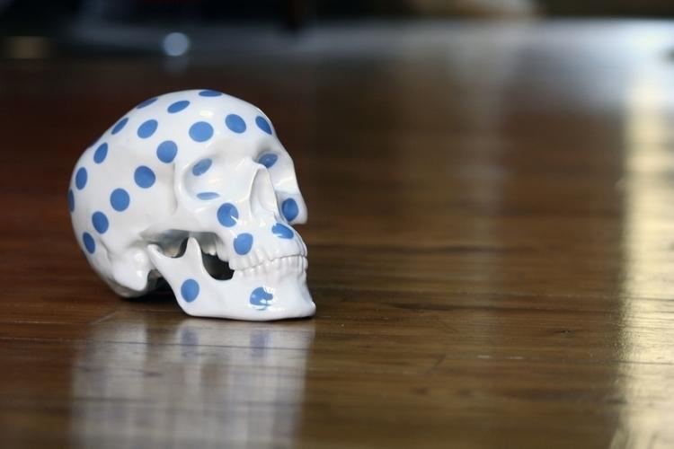Skull Polka Dot Blue NooN tribu - kolintribu | ello
