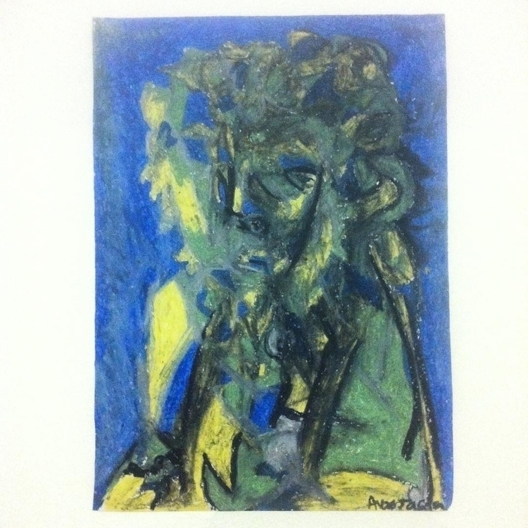Oscar - oil pastels - painting, drawing - anastasiac-8446 | ello