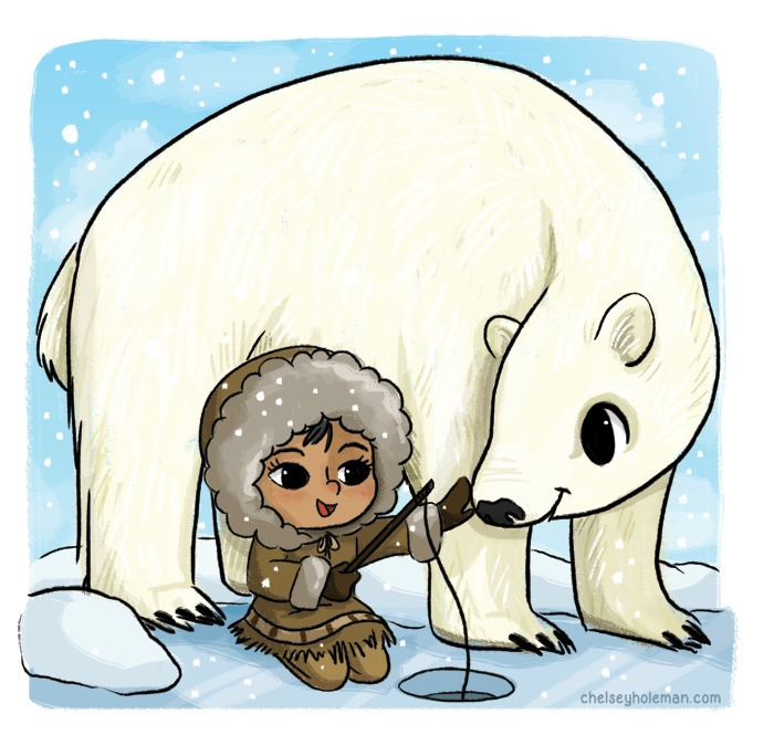 Friends - Inuit - cute, illustration - chelschmitz | ello
