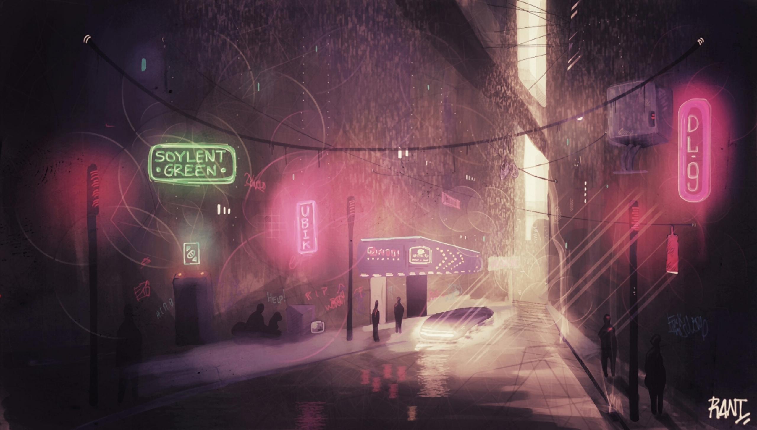 Cyberpunk city concept art proc - rantart | ello