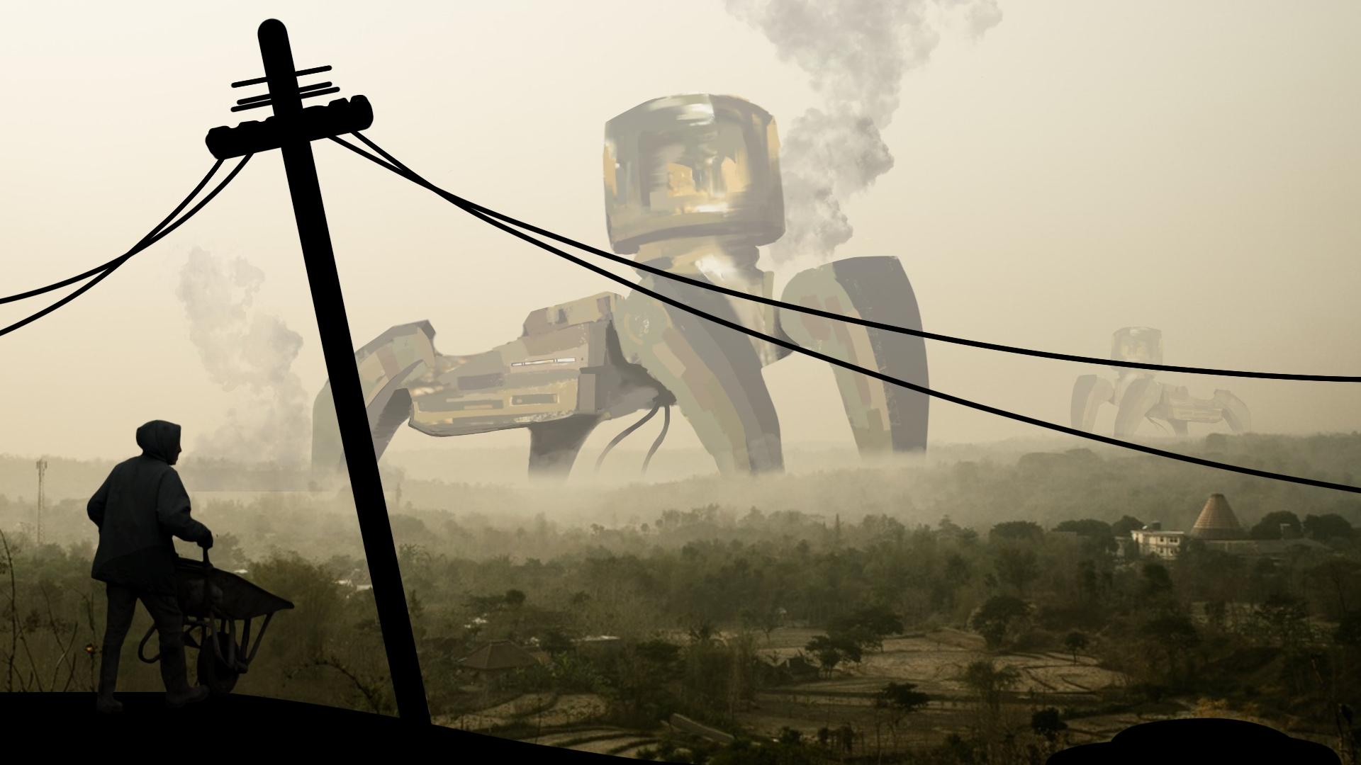 Robot Invasion - conceptart, environment - rantart | ello