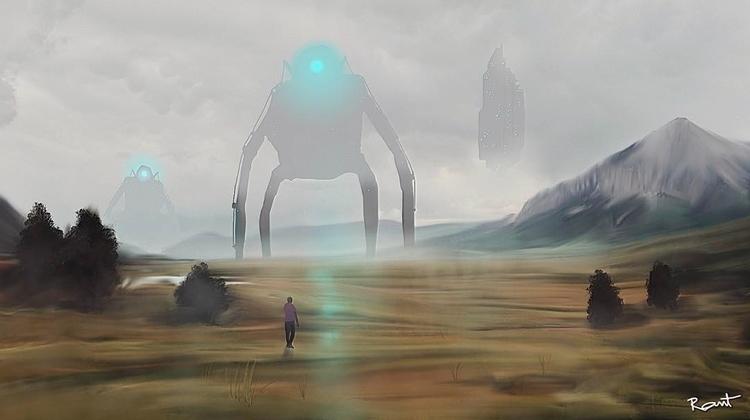 robot invasion - illustration, digitalart - rantart | ello