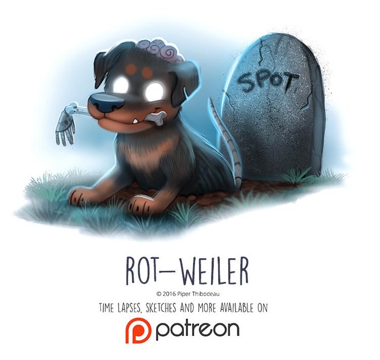 Day 1432. Rot-Weiler - piperthibodeau | ello