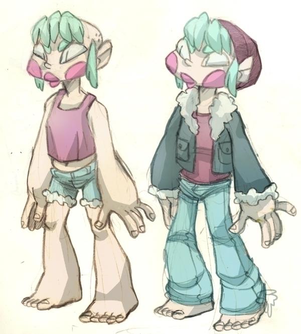 ila: summer winter - characterdesign - slunchy | ello