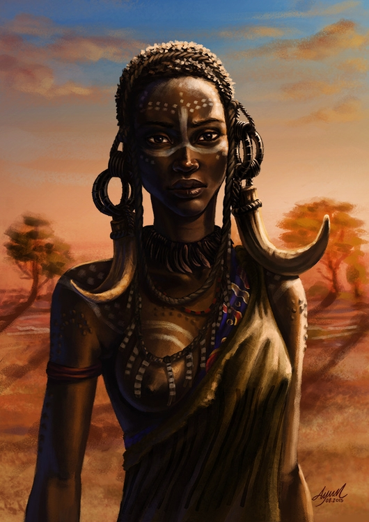 African Women - illustration, painting - ayu-3119 | ello