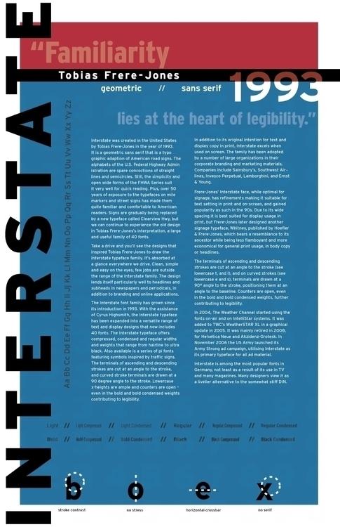 Interstate Typographic Poster  - jessicaredmond | ello