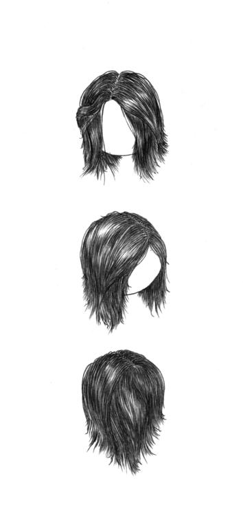 bored work 2 - illustration, hair - thecreativefish | ello