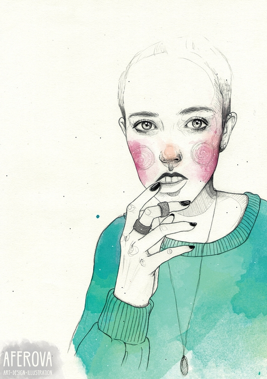 Turquoise - illustration, drawing - aferova | ello